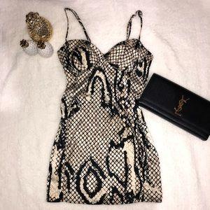 • SNAKE PRINT DRESS •